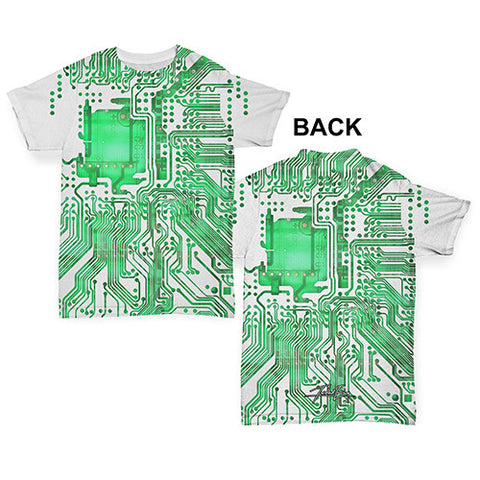 Circuit Board Baby Toddler ALL-OVER PRINT Baby T-shirt