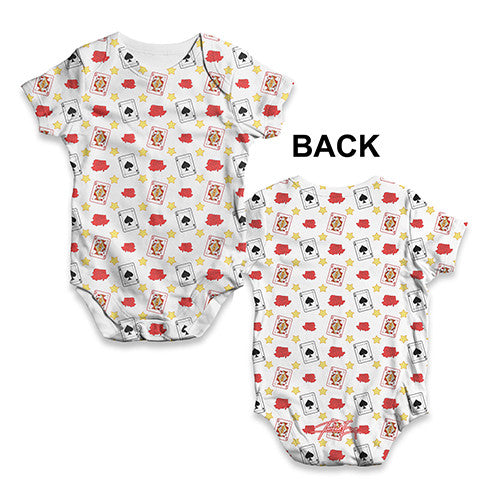 Playing Cards Baby Unisex ALL-OVER PRINT Baby Grow Bodysuit