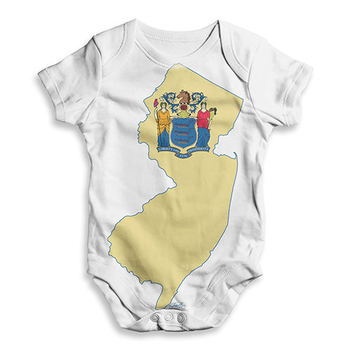 USA States and Flags New Jersey Baby Unisex ALL-OVER PRINT Baby Grow Bodysuit
