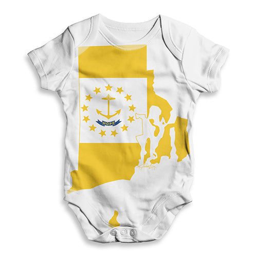 USA States and Flags Rhode Island Baby Unisex ALL-OVER PRINT Baby Grow Bodysuit