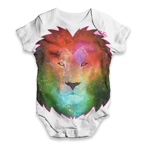 Galaxy Lion Head Baby Unisex ALL-OVER PRINT Baby Grow Bodysuit