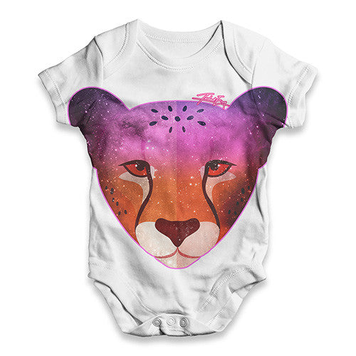 Cosmic Cheetah Baby Unisex ALL-OVER PRINT Baby Grow Bodysuit