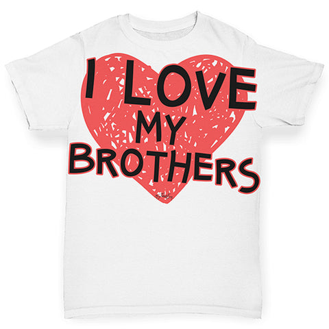 I Love My Brothers Baby Toddler ALL-OVER PRINT Baby T-shirt