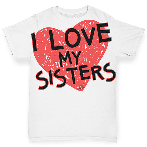 I Love My Sisters Baby Toddler ALL-OVER PRINT Baby T-shirt