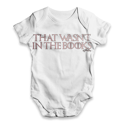 That Wasn't In The Book Baby Unisex ALL-OVER PRINT Baby Grow Bodysuit
