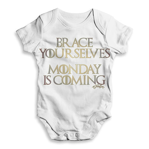 Monday Is Coming Baby Unisex ALL-OVER PRINT Baby Grow Bodysuit