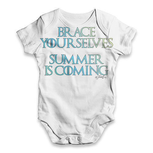 Summer Is Coming Baby Unisex ALL-OVER PRINT Baby Grow Bodysuit