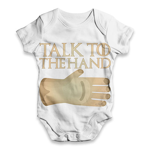 Talk To The Hand Baby Unisex ALL-OVER PRINT Baby Grow Bodysuit