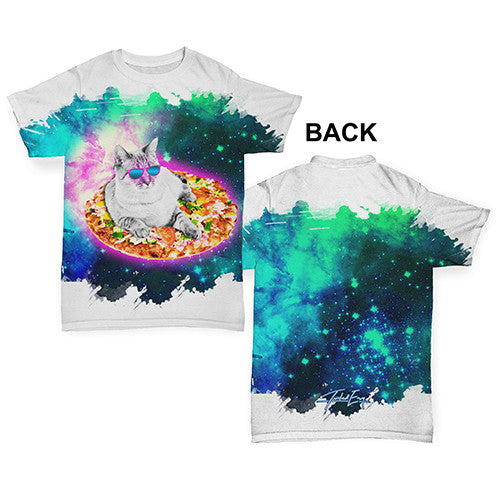 Surfing Pizza Cat In Space Baby Toddler ALL-OVER PRINT Baby T-shirt