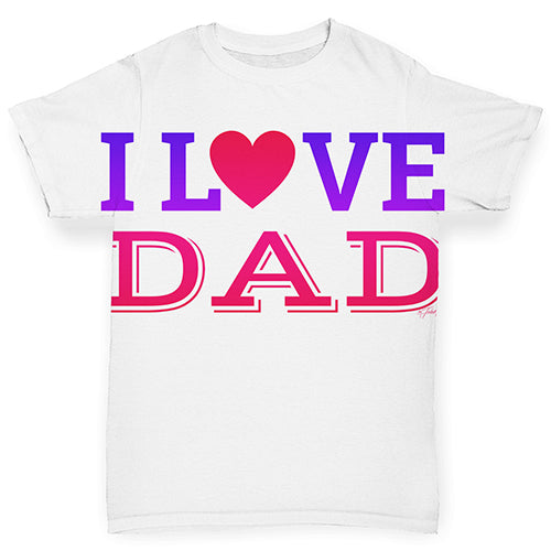 I Love Dad Baby Toddler ALL-OVER PRINT Baby T-shirt