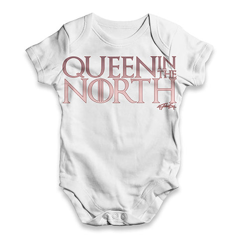 Queen In The North Baby Unisex ALL-OVER PRINT Baby Grow Bodysuit