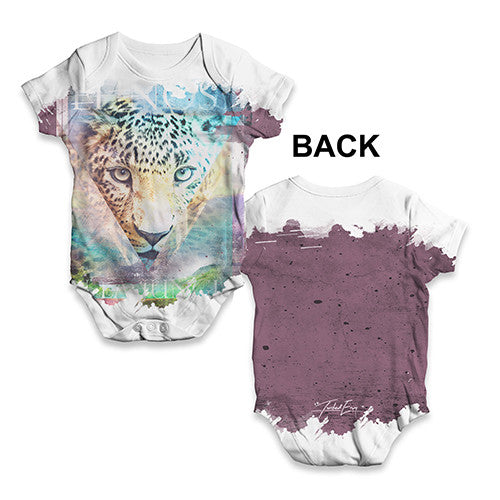 Cheetah In the Jungle Baby Unisex ALL-OVER PRINT Baby Grow Bodysuit