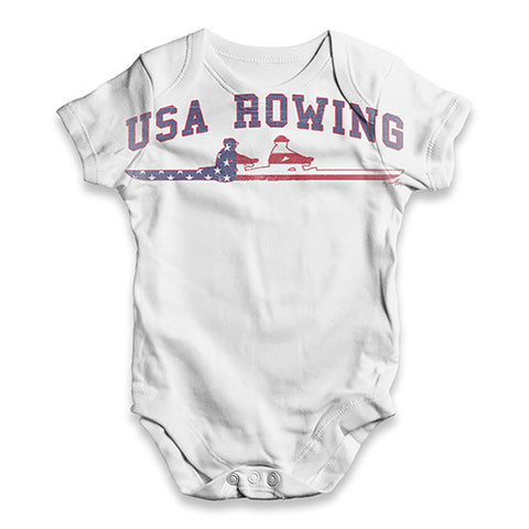 USA Rowing Baby Unisex ALL-OVER PRINT Baby Grow Bodysuit