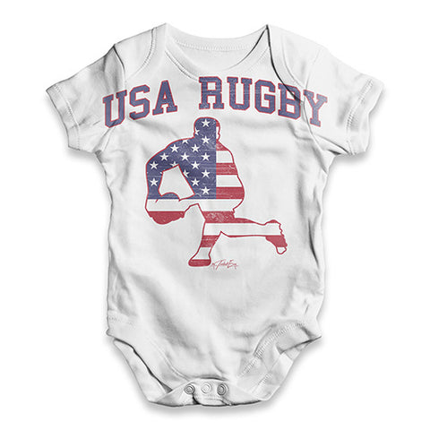USA Rugby Baby Unisex ALL-OVER PRINT Baby Grow Bodysuit