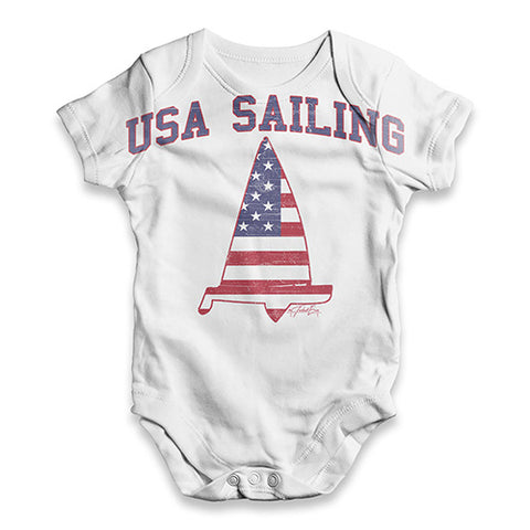 USA Sailing Baby Unisex ALL-OVER PRINT Baby Grow Bodysuit