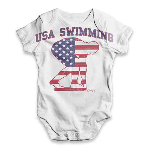 USA Swimming Baby Unisex ALL-OVER PRINT Baby Grow Bodysuit