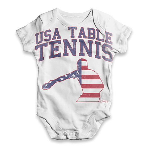 USA Table Tennis Baby Unisex ALL-OVER PRINT Baby Grow Bodysuit