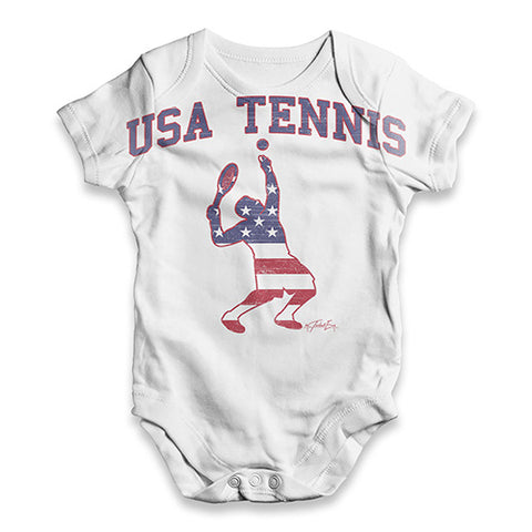 USA Tennis Baby Unisex ALL-OVER PRINT Baby Grow Bodysuit