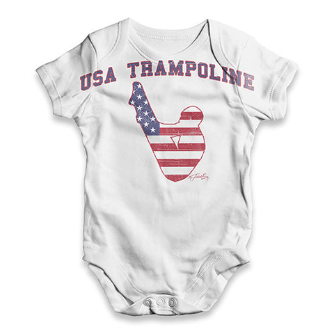 USA Trampolining Baby Unisex ALL-OVER PRINT Baby Grow Bodysuit