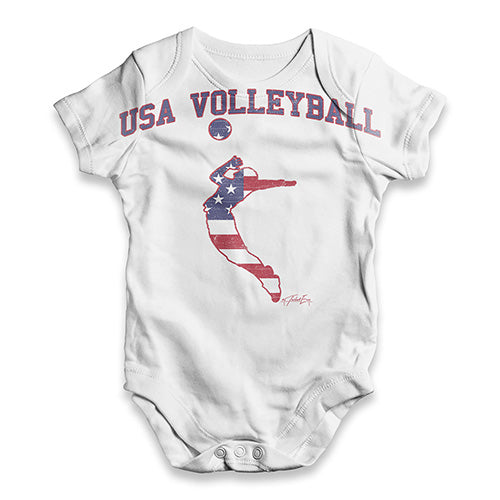 USA Volleyball Baby Unisex ALL-OVER PRINT Baby Grow Bodysuit