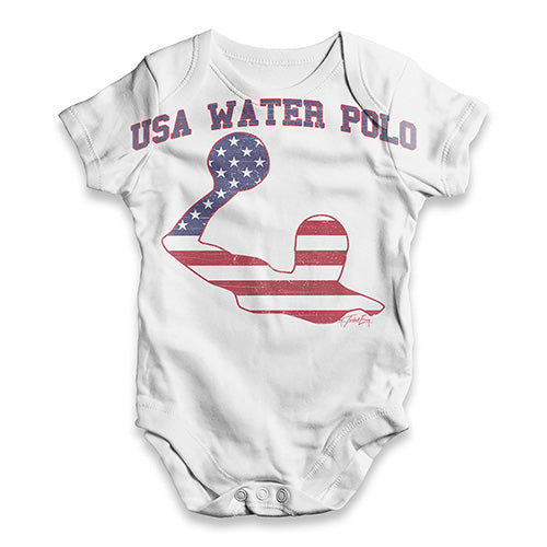 USA Water Polo Baby Unisex ALL-OVER PRINT Baby Grow Bodysuit
