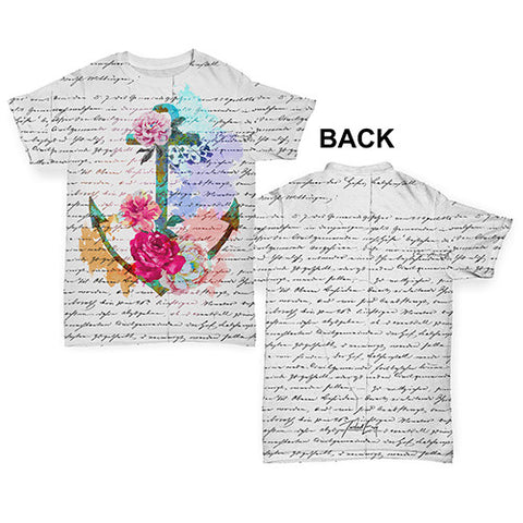 Book Print Floral Anchor Baby Toddler ALL-OVER PRINT Baby T-shirt