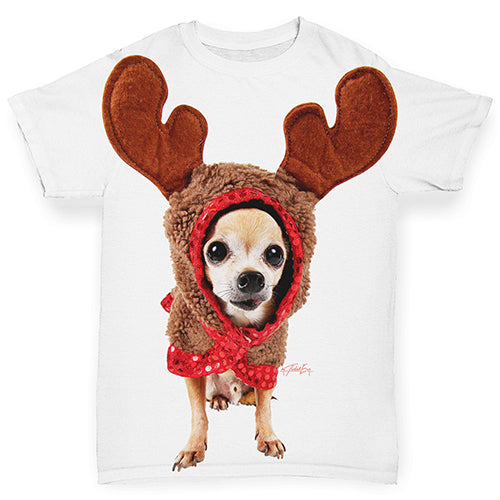 Christmas Reindeer Chihuahua Baby Toddler ALL-OVER PRINT Baby T-shirt