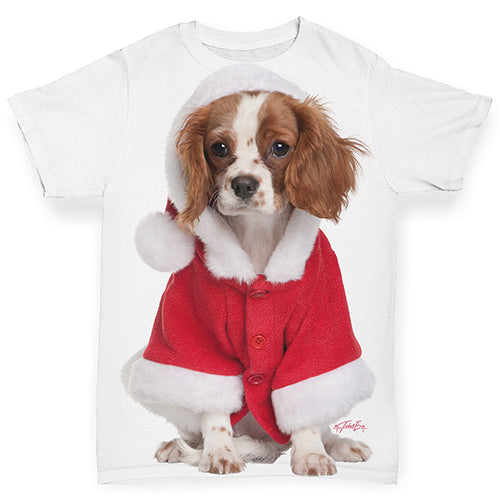 Christmas King Charles Spaniel Baby Toddler ALL-OVER PRINT Baby T-shirt