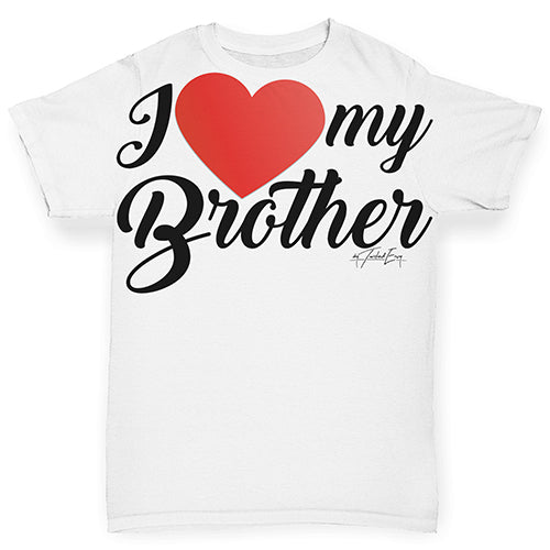 I Love My Brother Baby Toddler ALL-OVER PRINT Baby T-shirt