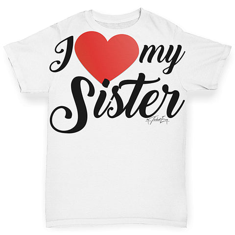 I Love My Sister Baby Toddler ALL-OVER PRINT Baby T-shirt