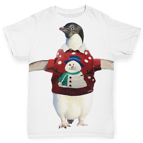 Penguin Christmas Jumper Baby Toddler ALL-OVER PRINT Baby T-shirt