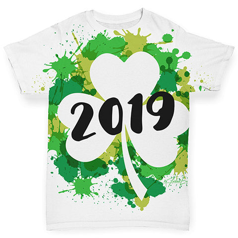 Baby Girl Clothes St Patrick's Day Clover Year Baby Toddler ALL-OVER PRINT Baby T-shirt 6-12 Months White