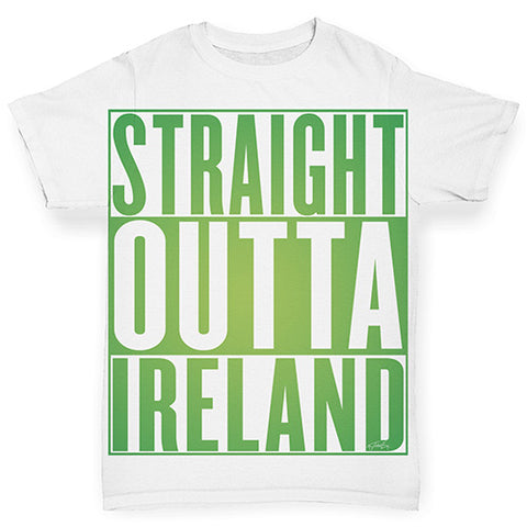 Baby Girl Clothes Straight Outta Ireland Green  Baby Toddler ALL-OVER PRINT Baby T-shirt 6-12 Months White