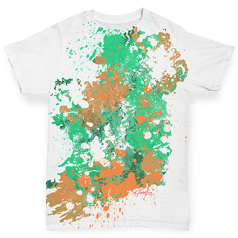 Baby Girl Clothes Ireland Paint Splats Silhouette Baby Toddler ALL-OVER PRINT Baby T-shirt 12-18 Months White