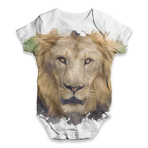 African Lion Baby Unisex ALL-OVER PRINT Baby Grow Bodysuit