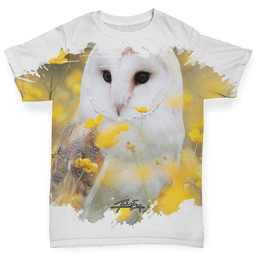 Large Snowy Owl Baby Toddler ALL-OVER PRINT Baby T-shirt