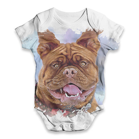 Adorable French Bulldog Baby Unisex ALL-OVER PRINT Baby Grow Bodysuit
