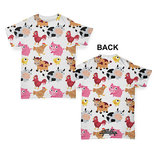 Farm Yard Animal Baby Toddler ALL-OVER PRINT Baby T-shirt