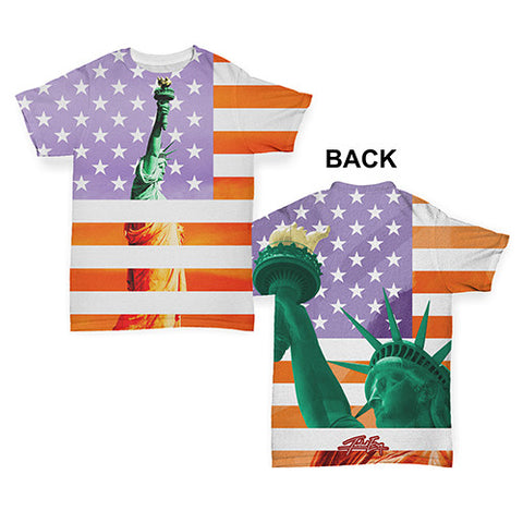Statue of Liberty American Flag Baby Toddler ALL-OVER PRINT Baby T-shirt