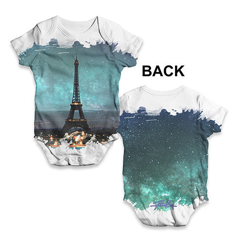 Eiffel Tower Paris Baby Unisex ALL-OVER PRINT Baby Grow Bodysuit