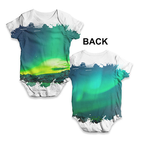 Northern Lights Landscape Baby Unisex ALL-OVER PRINT Baby Grow Bodysuit