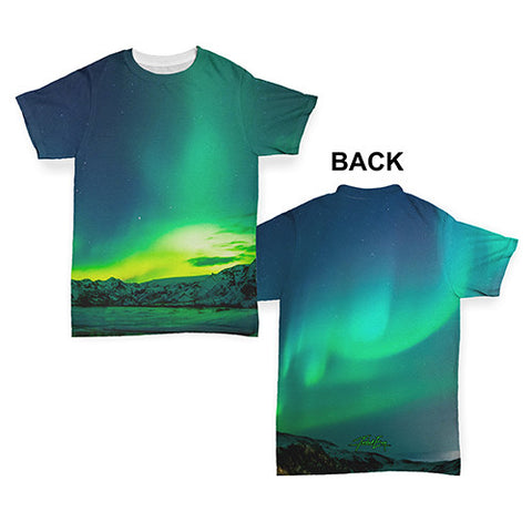 Northern Lights Landscape Baby Toddler ALL-OVER PRINT Baby T-shirt