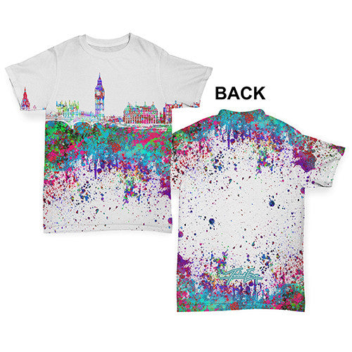 London Skyline Ink Splats Baby Toddler ALL-OVER PRINT Baby T-shirt