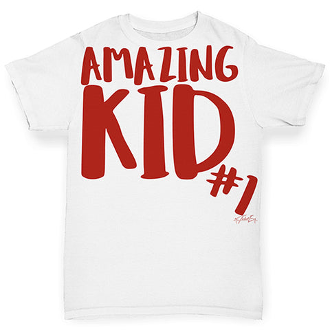 Amazing Kid Number 1 Baby Toddler ALL-OVER PRINT Baby T-shirt