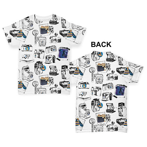 Vintage Camera Photographs Baby Toddler ALL-OVER PRINT Baby T-shirt