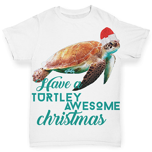 Turtley Awesome Christmas Baby Toddler ALL-OVER PRINT Baby T-shirt