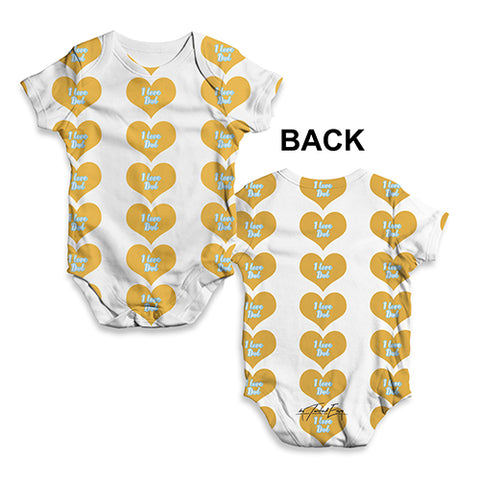 I Love Dad Hearts Baby Unisex ALL-OVER PRINT Baby Grow Bodysuit