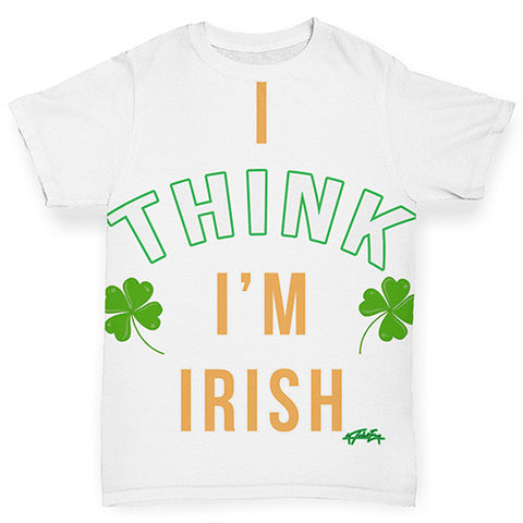 Baby Boy Clothes St Patricks Day I Think I'm Irish Baby Toddler ALL-OVER PRINT Baby T-shirt 12-18 Months White