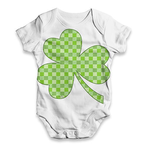 Funny Baby Bodysuits Tartan Shamrock Baby Unisex ALL-OVER PRINT Baby Grow Bodysuit 6-12 Months White