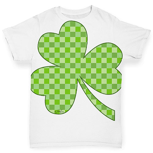 Funny Infant Baby Tshirts Tartan Shamrock Baby Toddler ALL-OVER PRINT Baby T-shirt 18-24 Months White